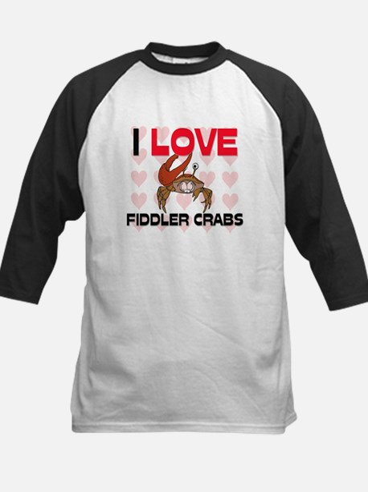 I Love Fiddler Crabs Kids Baseball Jersey