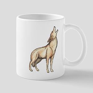 A Wolf Howls Mug