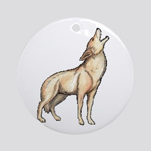 A Wolf Howls Ornament (Round)