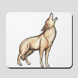A Wolf Howls Mousepad