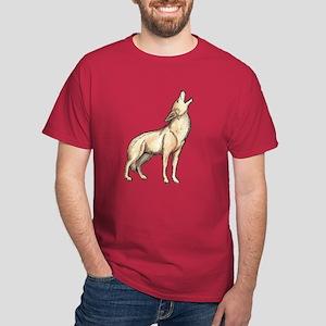 A Wolf Howls Dark T-Shirt