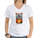Happy Halloween Witch Women's V-Neck T-Shirt