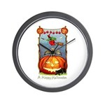 Happy Halloween Witch Wall Clock