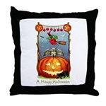 Happy Halloween Witch Throw Pillow