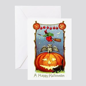Happy Halloween Witch Greeting Cards (Pk of 10)