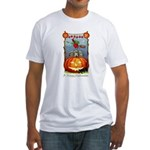 Happy Halloween Witch Fitted T-Shirt