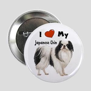"I Love My Japanese Chin 2.25"" Button"