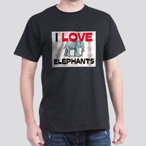 I Love Elephants Dark T-Shirt