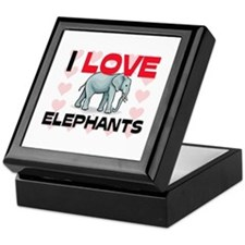 I Love Elephants Keepsake Box