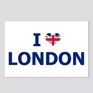 I Love London Postcards (Package of 8)