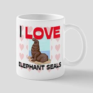 I Love Elephant Seals Mug