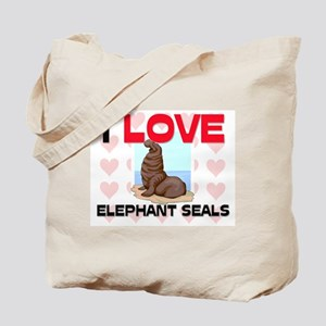 I Love Elephant Seals Tote Bag