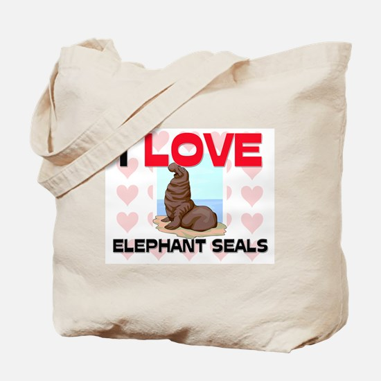 I Love Elephant Seals Tote Bag