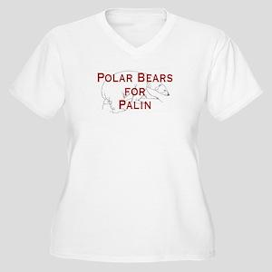 Polar Bears for Palin Women's Plus Size V-Neck T-S