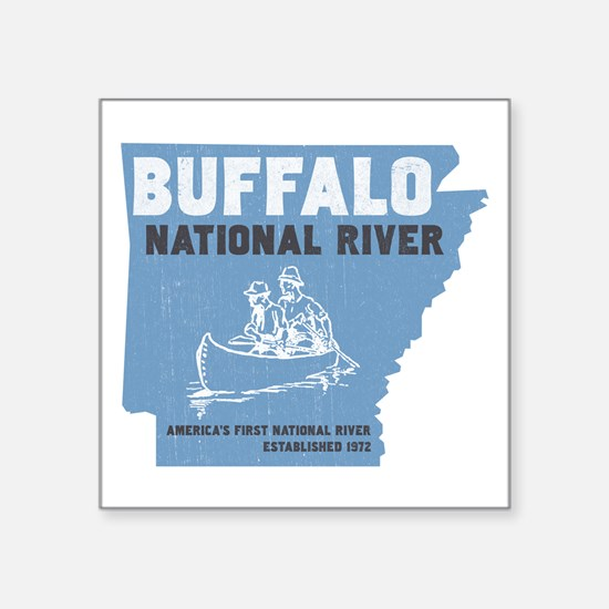 Buffalo River Arkansas Canoeing Sticker