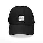 No Foolish Question Proverb Black Cap