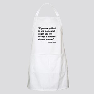 Patient Anger Sorrow Proverb BBQ Apron