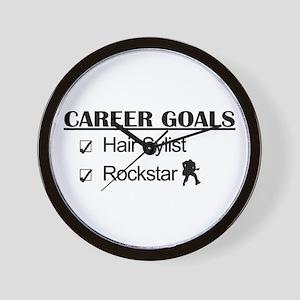 Hair Stylist Career Goals - Rockstar Wall Clock