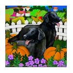 FLAT COATED RETRIEVER Halloween Tile Coaster