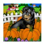Rottweiler Halloween Tile Coaster