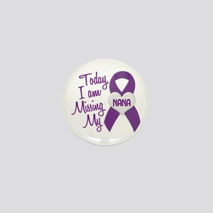 Missing My Nana 1 PURPLE Mini Button