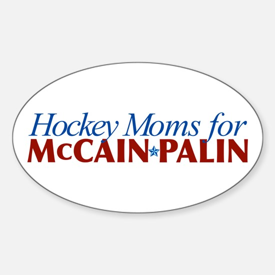 Hockey Moms for McCain Palin Oval Decal