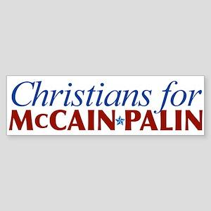 Christians for McCain Palin Bumper Sticker