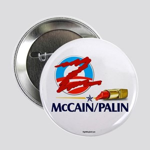 """Lipstick Scribble on Obama 2.25"""" Button (10 pack)"""