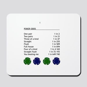 Poker odds Mousepad