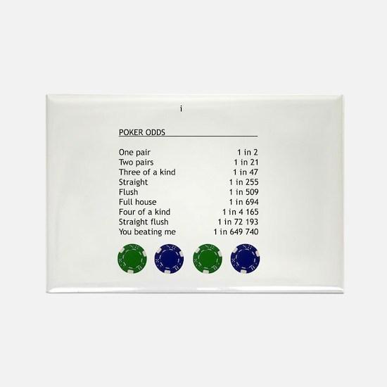 Poker odds Rectangle Magnet (10 pack)