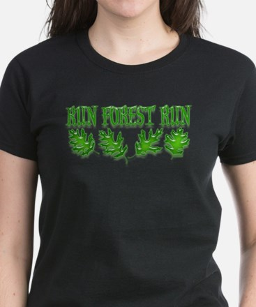 Run Forest Run! Women's Dark T-Shirt
