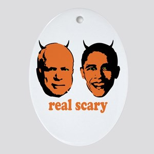 Real Scary Politics Oval Ornament