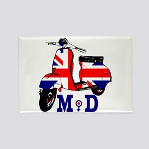 Mods Scooter Rectangle Magnet