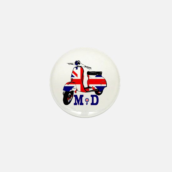 Mods Scooter Mini Button