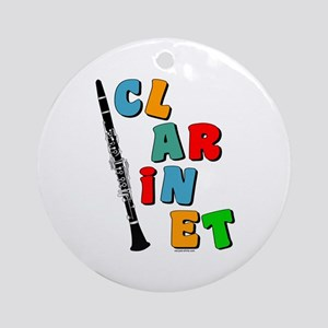 Colorful Clarinet Ornament (Round)