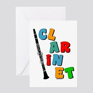 Colorful Clarinet Greeting Card