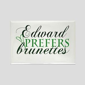 Edward prefers Brunettes (Gre Rectangle Magnet
