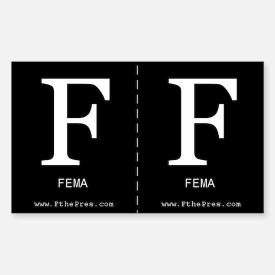 F FEMA Sticker (2 per sheet - you cut)
