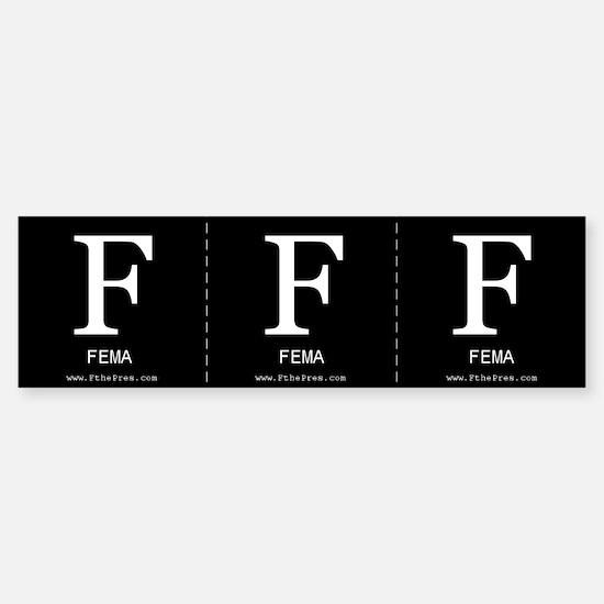 F FEMA Sticker (3 per sheet - you cut)