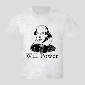 William Shakespeare WILL POWER Kids Light T-Shirt