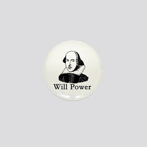William Shakespeare WILL POWER Mini Button