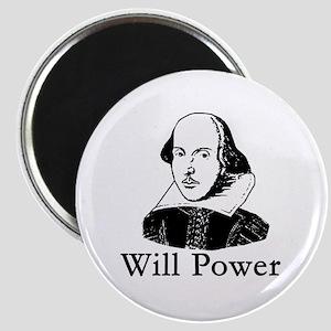 William Shakespeare WILL POWER Magnet