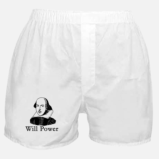 William Shakespeare WILL POWER Boxer Shorts