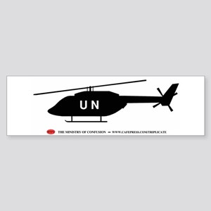 Black UN Helicopter Bumper Sticker