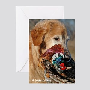 Golden Retriever with Pheasant Greeting Cards (Pac