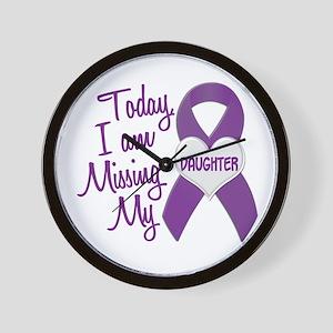 Missing My Daughter 1 PURPLE Wall Clock