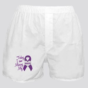 Missing My Daughter 1 PURPLE Boxer Shorts