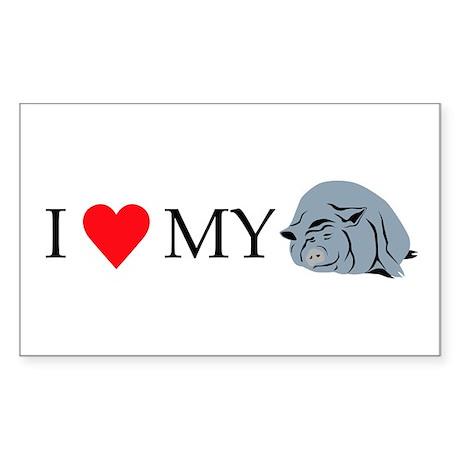 I Love My Pot Bellied Pig 2 Sticker (Rectangle)