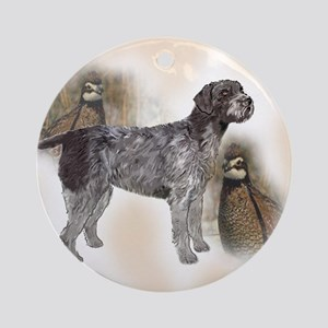 GWP with quail Ornament (Round)