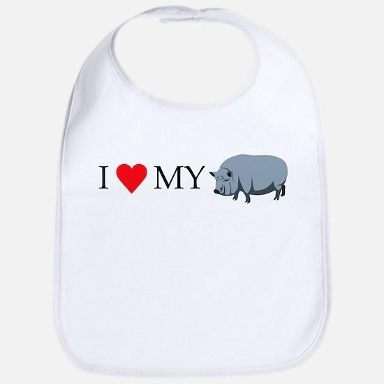 I Love My Pot Bellied Pig (1) Bib